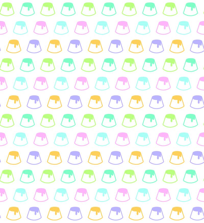 【非汎用的素材集】パターン素材〈∞味プリン〉